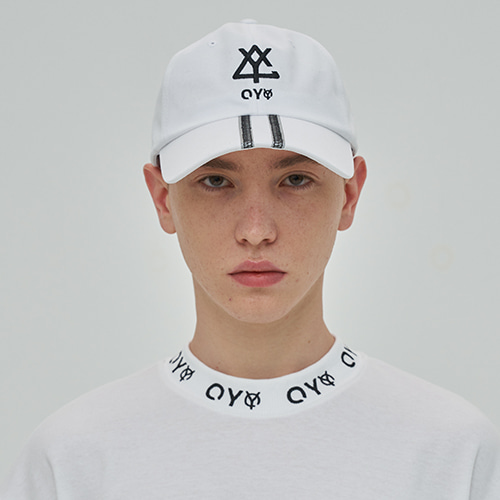 [OY] REFLECTIVE TAPE CAP - WH