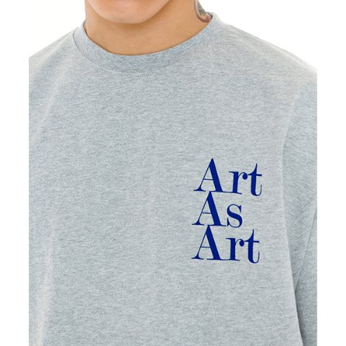 ART AS ART T-SHIRTS - GREY/BLUE