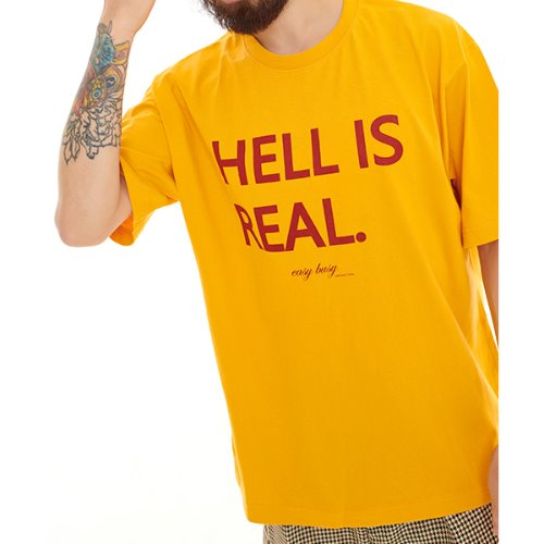 HELL IS REAL T-SHIRTS - YELLOW