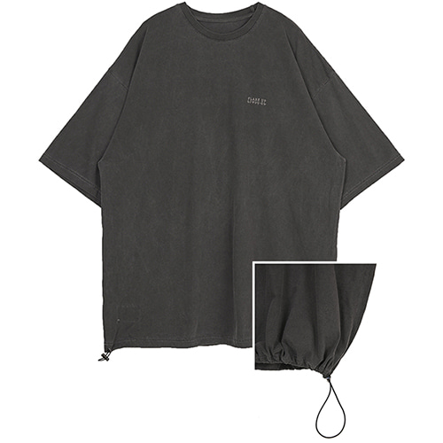 [FLARE UP] reversible pigment string T-shirt (FU-141_dark grey)