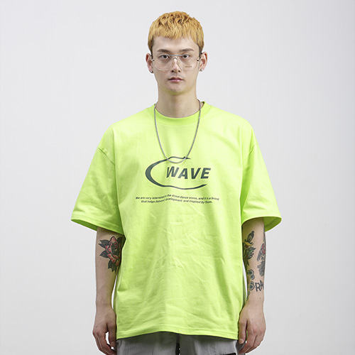 [NOWAVE] NEW LOGO TEE - Lime