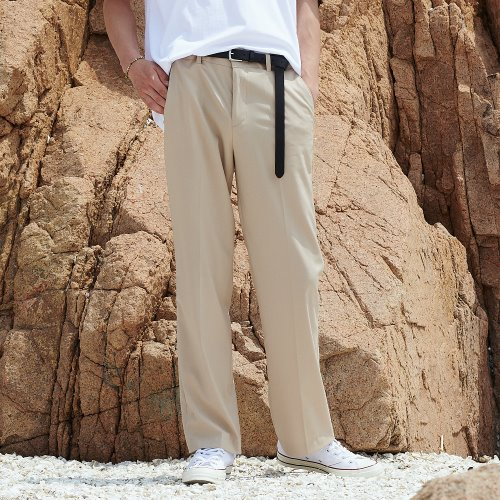 [언아웃핏] UNISEX LONG WIDE SLACKS BEIGE
