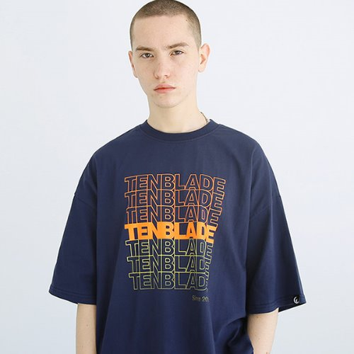 [TENBLADE] Graphic tower T-shirt-tai158ss-navy