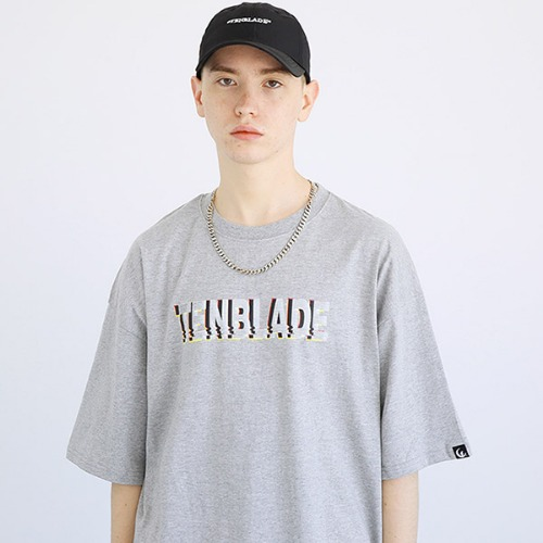 [TENBLADE] Black out T-shirt-tai157ss-gray