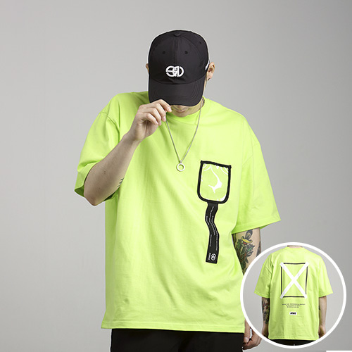 [NOWAVE] PVC POCKET TEE - Lime