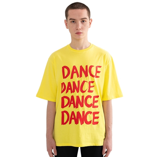 "[Rolling Studios]""DANCE"" Over fit T-Shirt Yellow"