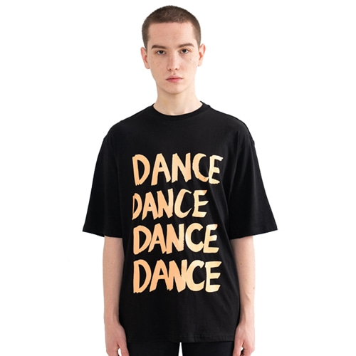 "[Rolling Studios]""DANCE"" Over fit T-Shirt Black"
