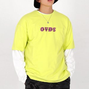 [OHVERDOSE]OVER-FIT SIGNATURE LOGO TEE LIME