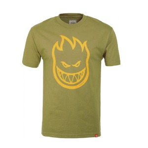 [spitfire] BIGHEAD S/S T-Shirt - SAFARI GREEN w/ YELLOW Print 51010001GA