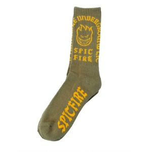 [Spitfire] STEADY ROCKIN	Sock	LT. OLIVE/YELLOW 57010053D00