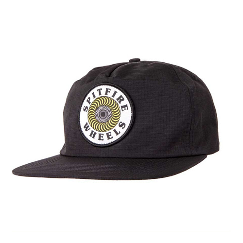 [spitfire] OG SWIRL PATCH  Snapback Hat BLACK/YELLOW 50010154B00