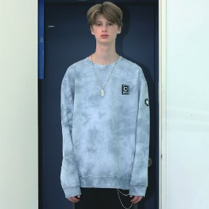 [APPARELXIT] UNISEX PATCH WASHING SWEAT SHIRTS SKY BLUE