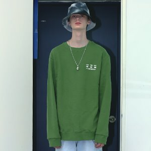[APPARELXIT] UNISEX DISK SERVICE SWEAT SHIRTS OLIVE GREEN