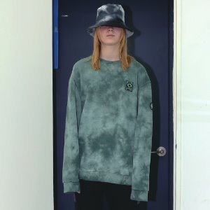 [APPARELXIT] UNISEX PATCH WASHING SWEAT SHIRTS GREEN