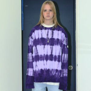 [APPARELXIT] UNISEX LINE WASHING SWEAT SHIRTS PURPLE