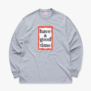 [해브어굿타임] FRAME L/S TEE - Heather Grey