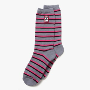 [have a good time] FRAME STRIPE SOCKS - HEATHER GRAY