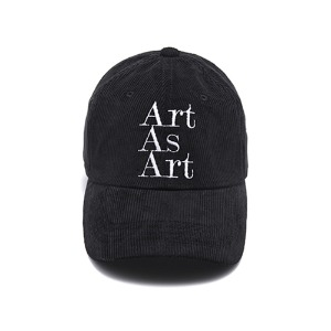 ART AS ART CORDUROY CAP - BLACK