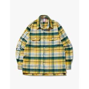 [해브어굿타임] Side Logo Checked Shirts - Yellow