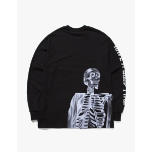 [have a good time] Bone Logo L/S Tee - Black
