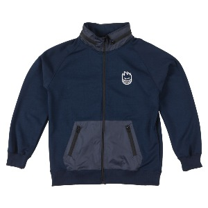 [Spitfire] STOCK BIGHEAD HOMBRE Mock Neck Track Jacket - NAVY/WHITE 54010090