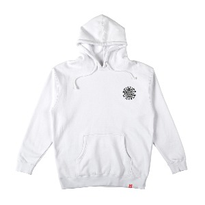 [Spitfire] CLASSIC 87 SWIRL Pullover Hooded Sweatshirt - WHITE/BLACK 53110094