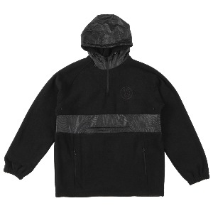 [Spitfire] BURNOUT Polar Fleece Pullover Anorak - BLACK