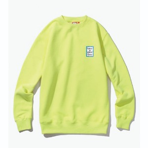 [해브어굿타임] Mini Blue Frame Crewneck - Neon Green