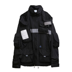 [AAC] 0.20 Smock Jacket-black