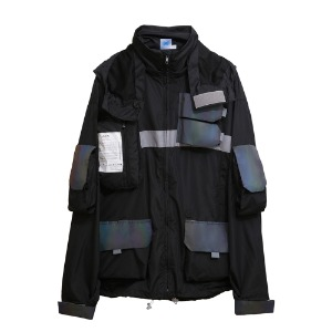 [AAC] 0.20 Hologram Smock Jacket