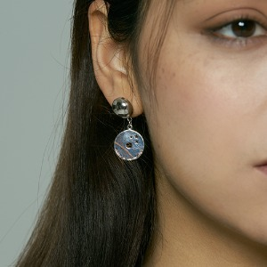 [HAWHA] Midnight drop earring