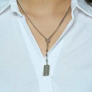 [HAWHA] Star rain drop necklace
