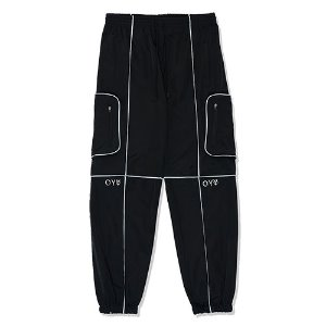 [OY]REFLECTIVE PIPING CARGO PANTS-BLACK