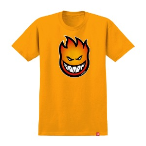 [Spitfire] BIGHEAD FADE FILL S/S T-Shirt - GOLD/RED ORANGE 51010654A