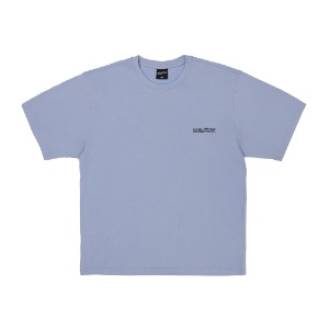 Embroidery Front Short Sleeve T-Shirt - SKY BLUE
