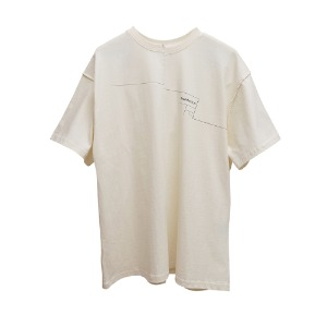 [AAC] Distorted Architecton T-shirt-ivory