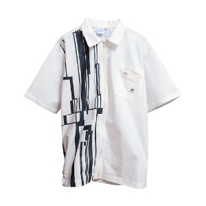 [AAC] Gotha.2 Zip Shirt-whiteB