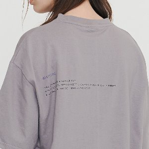 [IRONYPORNO]UNISEX WINGS LETTERING H-TEE IRT027 CHARCOAL