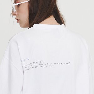 [IRONYPORNO]UNISEX WINGS LETTERING H-TEE IRT027 WHITE