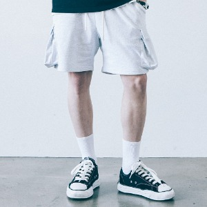 [필이너프] SOLID POCKET SHORTS - GR
