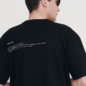 [IRONYPORNO]UNISEX WINGS LETTERING H-TEE IRT027 BLACK