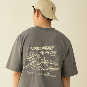 [BANGERS] SUMMER SOMEWHERE T-SHIRT_CHARCOAL