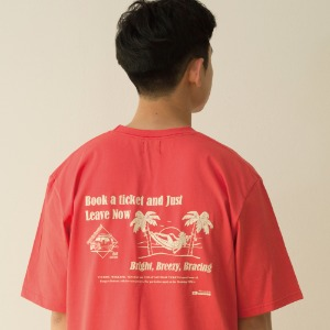 [BANGERS] TRAVEL AGENCY T-SHIRT_CORAL