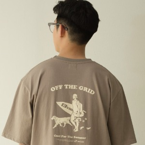 [BANGERS] OFF THE GRID T-SHIRT_DUSTY BEIGE