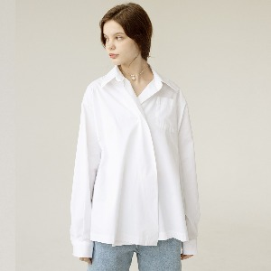 [ARDOROBE] one button oversized shirts AST201002-WT