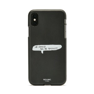 "[Rolling Studios] ""WE SHOULD ALL BE FEMINISTS"" Printed iPhone Case Black"
