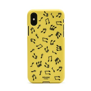 "[Rolling Studios] ""MUSIC NOTE"" Printed iPhone Case Yellow/Black"