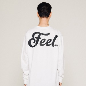 [필이너프] LOGO LONG SLEEVE / WHITE