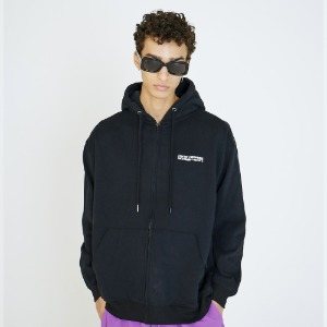 [아임낫어휴먼비잉] Basic Logo Zip-up Hoodie - BLACK