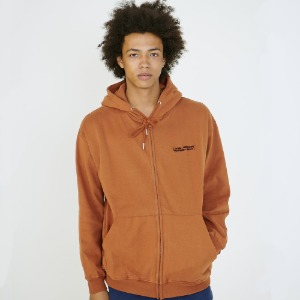 [아임낫어휴먼비잉] Basic Logo Zip-up Hoodie - BROWN